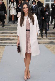 Mila's coat and dress.
