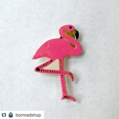 """#Repost @bornradshop  Bros and Broads! Born Rad is now live! Kicking this shit off with a late night pin drop! 1"""" enamel flamingo pin. Clutch back. Cute as fuck! Link in profile. More stuff to be added in the next few hours. Stay tuned cool shit is lurking right around the corner!  #flamingo #pin #pins #pingame #enamelpin #bornradshop #kitsch #retro #cuteasfuck #lbc #pinlord #pinsofig #pintrill #pinstagram #softenamel #hatpins #hatpin #patchgame"""