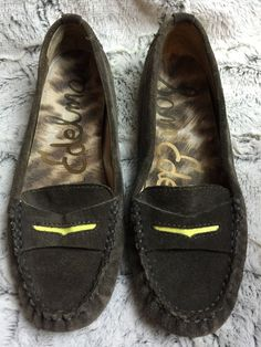 b4fc342d9ecd Sam Edelman Jones Filly Suede Penny Loafers Driving Shoes Womens Size 7 1 2  (7.5  SamEdelman  LoafersMoccasins  Casual