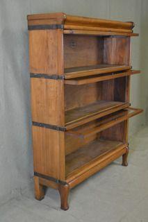 Fabulous Pair Of Globe Wernicke Mahogany Stacking Lawyers Bookcases / Bookshelf