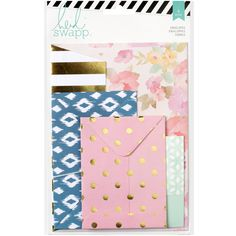 "American Crafts Wanderlust Assorted Envelopes 4/Pkg-3""X3.5"" To 5""X7"""