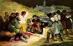 Francisco Goya - peasants before the firing squad - link to 10 little known facts about the peace sign