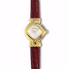 """SHOP NOW at Haute Élan. """"Au Cœur de la Rose"""", DELANCE's watch, with a heart at 6 o'clock, is a symbol of love and honesty. However, the heart is even more: it represents intelligence and intuition, along with seventeen diamonds, because the figure 17 has magical powers. In addition, 1 + 7 is 8, the symbol of continuous renewal of life, cosmic balance and eternity."""
