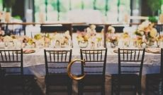 Fall Old Edwards Inn Wedding tablescape with monogram on bride and grooms chairs | Planning: @avleventco | Read more: http://ashevilleeventco.com/blog/old-edwards-inn-wedding-taylor-chase-part-2/