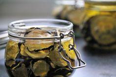 getrocknete Zucchini einlegen Silver Rings, Pickled Zucchini, Preserving Zucchini, Summer, Lawn And Garden, Recipies
