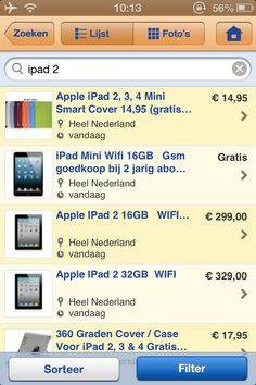 Marktplaats | iPhone | Blue textlabels on orange buttons :(..
