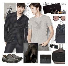 """Designer Spot: John Varvatos"" by zouus ❤ liked on Polyvore featuring John Varvatos, John Varvatos * U.S.A., HUGO, contemporary, men's fashion, menswear, menfashion and johnvarvatos"