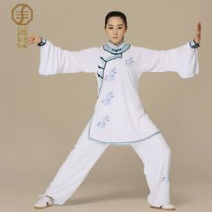 Hongcheng high-end female summer tai chi tai chi clothing embroidery and embroidery cotton clothing custom HTC615