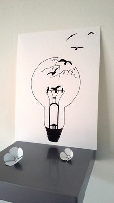 "Poster illustration black and white bulb ""sweetheart freedom Art Drawings Simple, Freedom Drawing, Sketches, Sketch Book, Doodle Art, Illustration Art, Drawing Sketches, Art, Pencil Art Drawings"