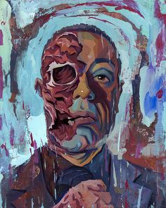 Image of Gustavo FRING (BREAKING BAD) Original Painting