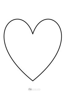 serce - szablon