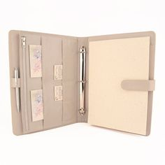 ORIGINAL  A4 Leather Ring Binder Planner / Organizer  3 Or 4 Ring. Lots Of  Pockets. Personalized U0026 Available In Different Colors
