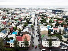 Iceland is known for its rustic beauty and epic landscapes, but the country's city scene shouldn't be overlooked. Reykjavik, Iceland's capital, is full of cozy cafes, beautiful architecture, and colorful views. Pictured: The Reykjavik skyline from the top of Hallgrímskirkja church.
