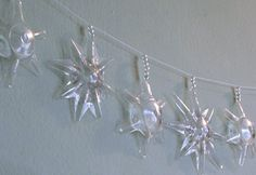 How to make star garland out of plastic bottles. MUCH simpler than you think!