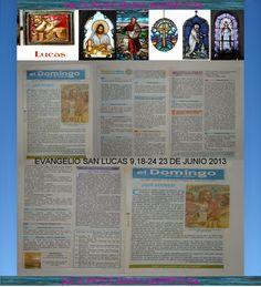 CONFESION Y EUCARISTIAS RECIBIDOS 23 DE JUNIO DEL 2013. EVANGELIO DE SAN LUCAS 9,18-24. +♠LOURDES MARIA BARRETO+♠