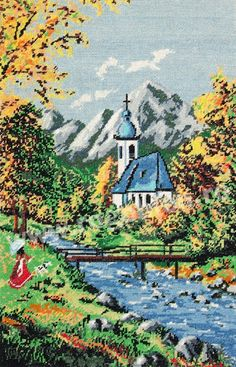 VK is the largest European social network with more than 100 million active users. Cross Stitch Landscape, Cross Stitch Rose, Hobbies And Crafts, Needlepoint, Crochet Projects, Cross Stitch Patterns, Photo Wall, Embroidery, Creative