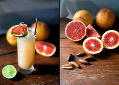 The Salty Dog, a healthful wintry cocktail made with fresh grapefruit juice