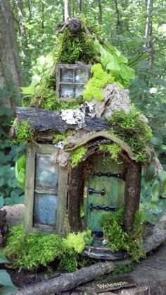 Take Your Pick! The Top Miniature Fairy Garden Design Idea - Dova Home Fairy Tree Houses, Fairy Garden Houses, Fairy Village, Fairies Garden, Diy Fairy House, Fairy Doors On Trees, Fairy Furniture, Resin Furniture, Furniture Chairs