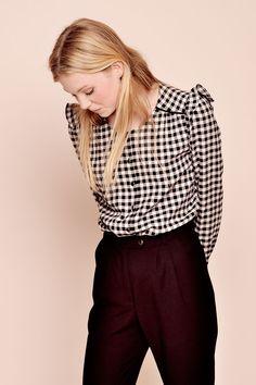 blouse saturday carreaux