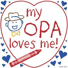 Opa Gift Wall Plaque: My Opa Loves Me!