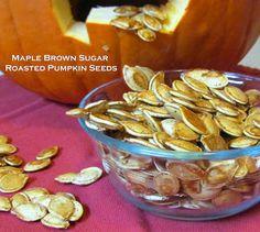 Getting Stuffed: Maple Brown Sugar Roasted Pumpkin Seeds