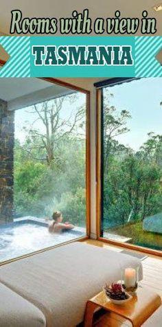 Places To Stay In Tasmania Five Best Rooms with a view in Tasmania.Five Best Rooms with a view in Tasmania. Perth, Brisbane, Melbourne, Sydney, Tasmania Road Trip, Tasmania Travel, Cairns, Amazing Destinations, Holiday Destinations