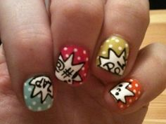 i will have these nails while wearing my comic book flats