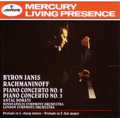 Byron Janis' very successful coupling of the two favourite Rachmaninov Concerti. Absolutely nail-biting and what splendid Mercury Living Presence sound.
