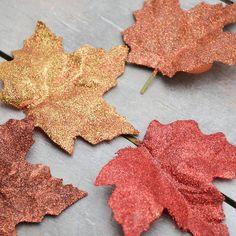Glittered Fall Leaves