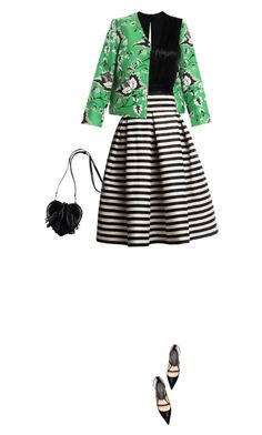 """""""Green with Print Mix"""" by yasminasdream ❤ liked on Polyvore featuring Diane Von Furstenberg, Isabel Marant, Rumour London and Zara"""