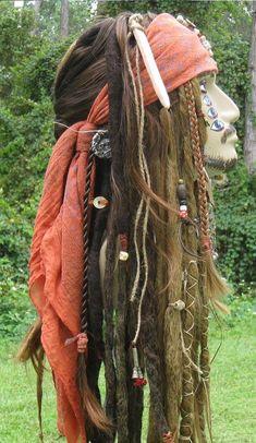 Jack Sparrow Wig Pirates 1 through 3 version - mottowoche ideen - Costume Couple Halloween Costumes, Cool Costumes, Adult Costumes, Woman Costumes, Group Costumes, Turtle Costumes, Diy Pirate Costume For Women, Adult Pirate Costume, Jack Sparrow Cosplay
