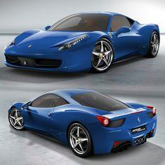 Ferrari Italia 458 Blue~His...