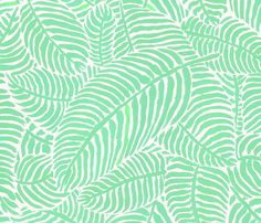 Mint Palms by The Prime Floridian fabric by theprimefloridian on Spoonflower - custom fabric
