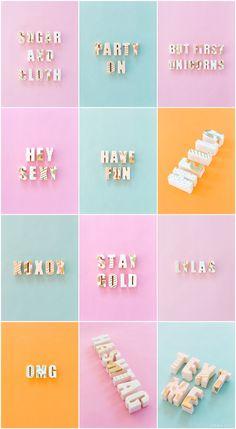 DIY edible chocolate messages | sugar & cloth