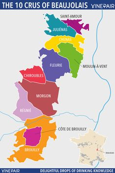 A Personality Guide To The 10 Crus Of Beaujolais - With Map! | VinePair