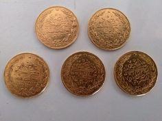 1293 II. Abdulhamid Gold Money 100 Kurush ( Meskuk)