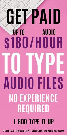 Interested in home-based transcription jobs? 1-888-Type-It-Up has typing jobs from home for beginners. They are always looking for transcriptionists. Type audio files and make up to $180 per audio hour transcribed. This is one of the best paying transcription companies for beginners #typingjobs #dataentryjobs #transcription #transcriptionjobs #noexperience #remotejobs #onlinejobs #workfromhome #workathomejobs #makemoneyfromhome #makemoneyonline Make Money Today, Earn More Money, Make Money Online, How To Make Money, Transcription Jobs From Home, Transcription Jobs For Beginners, Online Side Jobs, Best Online Jobs, Typing Jobs From Home