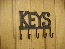 Find Hooks & Keys at Indelible Hooks, Keys, Hanger, Iron, Home Decor, Clothes Hanger, Decoration Home, Room Decor, Key