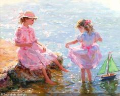 "RAZUMOV Konstantin - ""Children with the green yacht"""