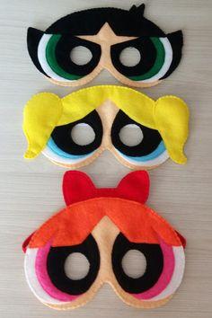 Inspired The Powerpuff Girls Felt Masks. The Powerpuff Girls Felt Masks. Mascaras Halloween, Halloween Masks, Halloween Crafts, Crafts For Girls, Diy For Girls, Diy And Crafts, Powerpuff Girls Costume, Felt Mask, Mask Girl