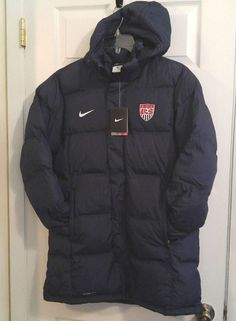 NEW Nike Team USA Storm-Fit 1 Soccer Parka Coat Jacket Women's Large L 522299 #Nike #CoatsJackets