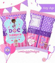 Doc Mcstuffins Treat Bag Printable Favor Bags Candy Bags