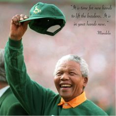 Nelson Mandela in a Springbok jersey, 1995 Rugby World Cup. South Africa Rugby Team, Nelson Mandela Quotes, Cycling Art, Cycling Quotes, Cycling Jerseys, Rugby World Cup, Former President, Presidents, Military