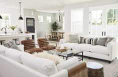 Furniture, Home Living Room, Farm House Living Room, Home Furniture, Livingroom Layout, Minimalist Living Room, Trendy Living Rooms, Home And Living, White Furniture Living Room