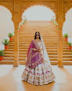 Latest designer white color lehenga choli for wedding 3 For order whatsapp us on wedding outfits wedding dress wedding dresses lengha lehnga sabyasachi manish malhotra Wedding Lehenga Designs, Designer Bridal Lehenga, Indian Bridal Lehenga, Indian Bridal Outfits, Indian Bridal Fashion, Indian Bridal Wear, Indian Designer Outfits, Bridal Dresses, Wedding Lehnga