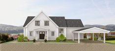 Den Vita (Dröm) Gården: Färgval för ett New England hus