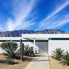 Skip the fame, fortune, & glory, just give me a house in Palm Springs and I'll be set 😜 (as long as there's a pool! Palm Springs Houses, Palm Springs Style, Cabana, Palm Springs Mid Century Modern, Mid Century Exterior, Desert Homes, Modern Landscaping, Landscaping Borders, Garden Landscaping