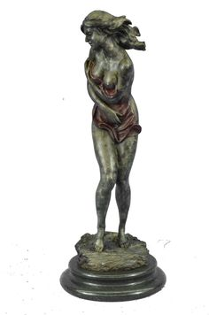 And woman bronze nude sculpture man