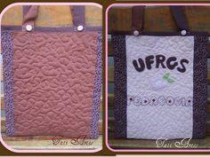 Bolsa (sacola) personalizada. Com manta e quiltada. Em tecidos nacionais e importados, Cores e estampas podem variar conforme a preferência. R$ 75,00