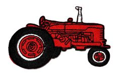 Farm Tractor Red DIY Applique Embroidered Sew Iron on Patch TT-003 *** Read more at the image link.